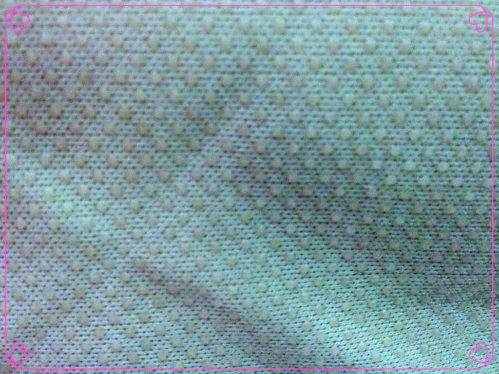 厂家直销针织布硅胶滴塑防滑布料,防滑垫布料
