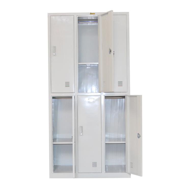 柜类-供应 特价6门更衣柜钢制文件柜资料柜橱