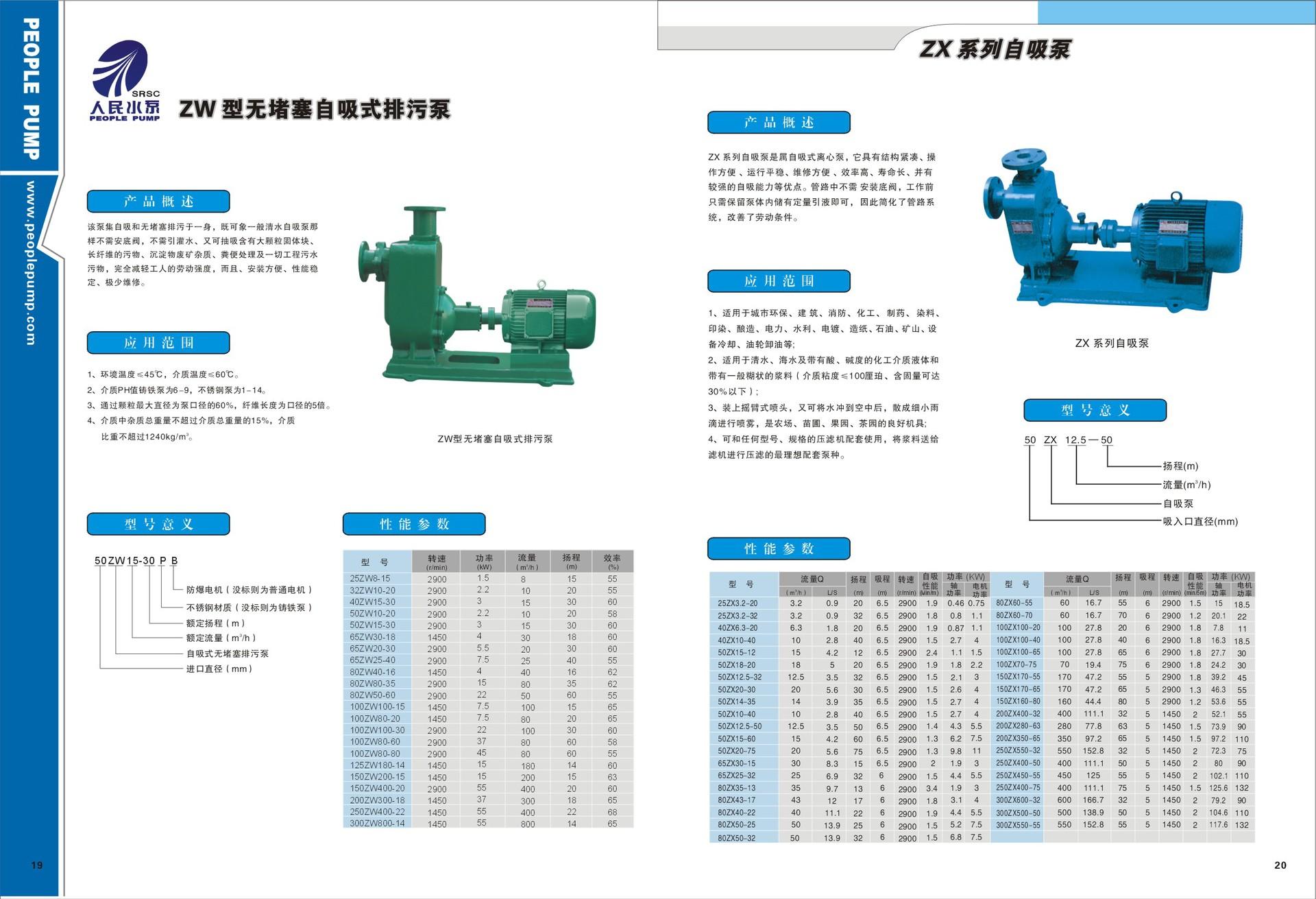 ZW系列自吸无堵塞排污泵