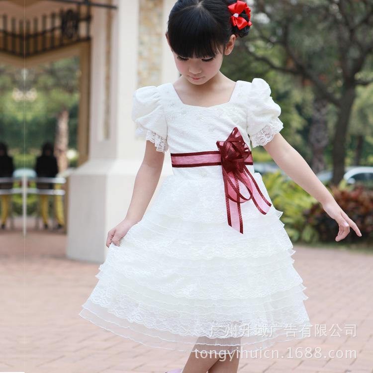 2013新款女童蕾丝<font color=red>礼服</font>裙 <font color=red>儿童公主裙</font> 连衣裙演