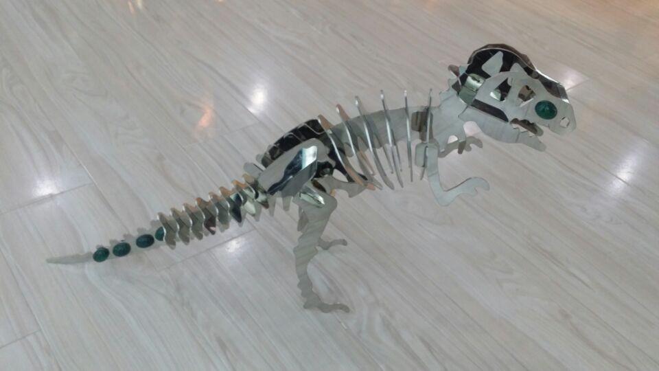 钢牌子动物,不锈钢工艺品,恐龙大型摆件,雕塑雕拼恐龙豆图纸图片