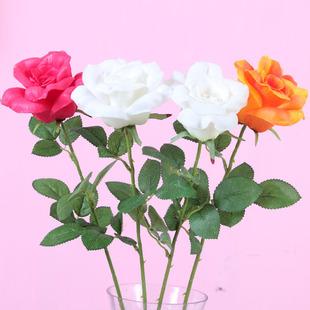 仿真玫瑰 人造假花绢花 家居装饰花 情人花摆放花艺 婚庆婚礼用品