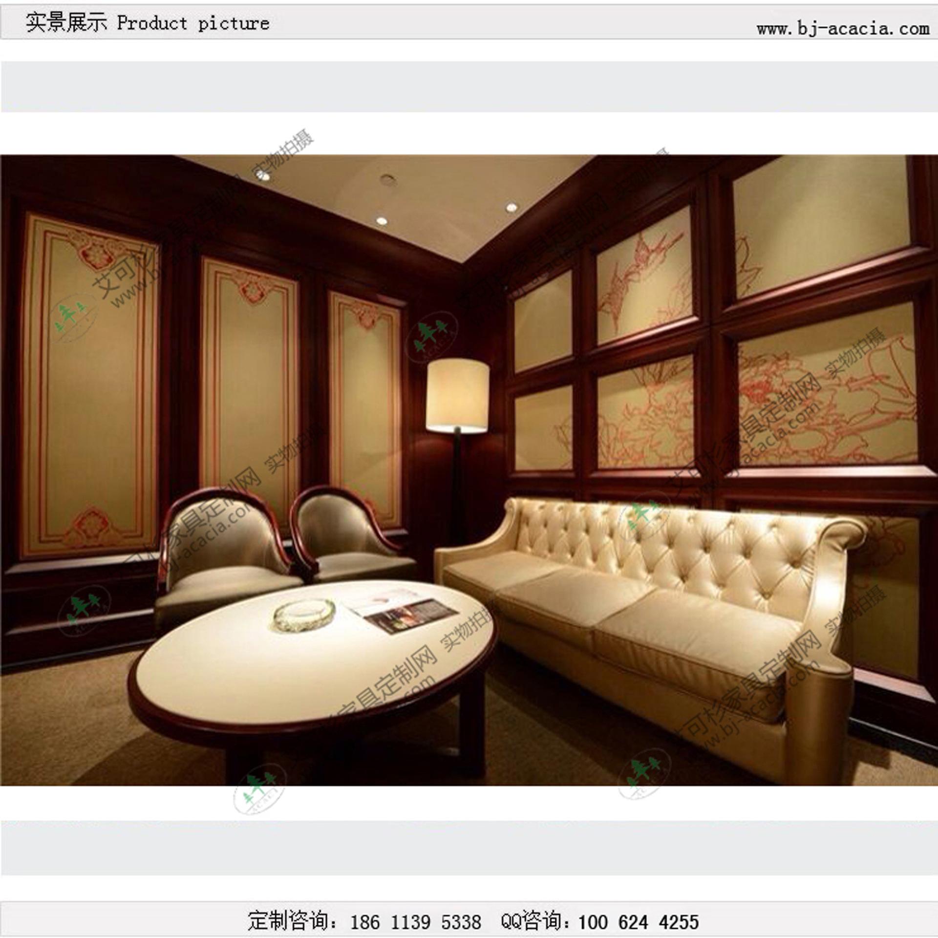 高档别墅家具沙发所人文酒店定制实木软包餐成家私人家具图片