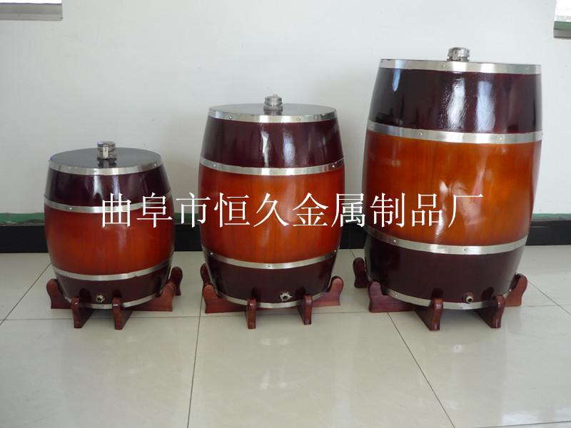 山东恒久优质木酒桶木酒罐木酒海(不锈钢内胆白酒果酒专用