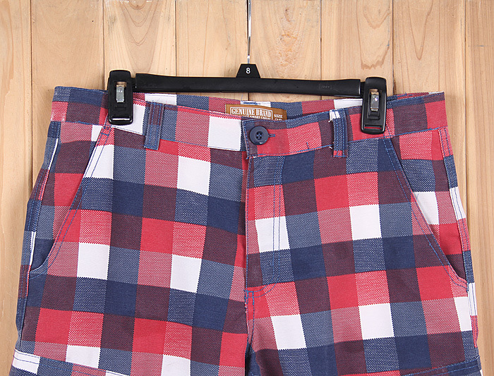 $2.76 For Men's Check Short Shorts Closeout Pants