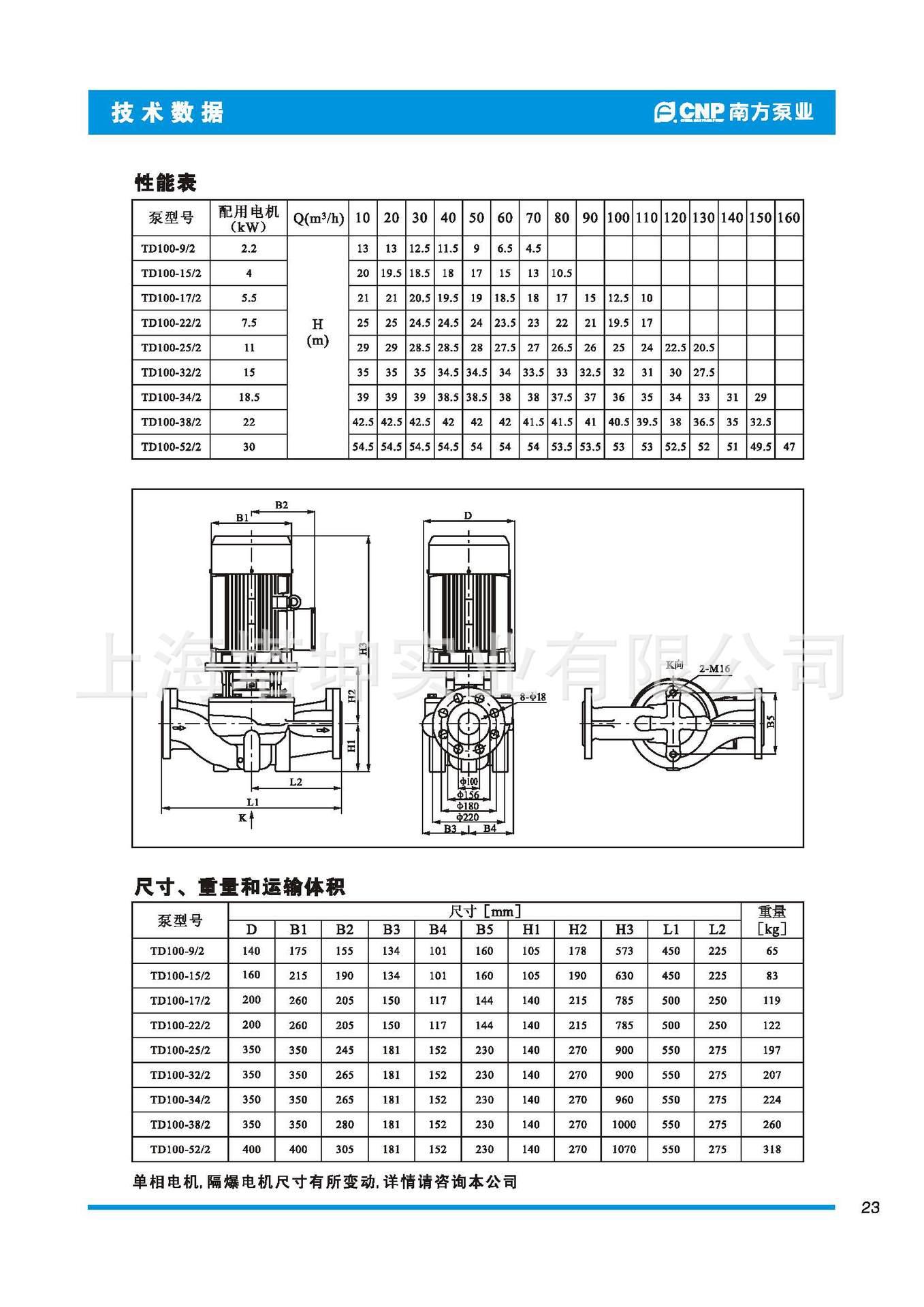 离心泵-南方版本TD100-52/2问题管道离心泵循号的关于立式图纸水泵图片