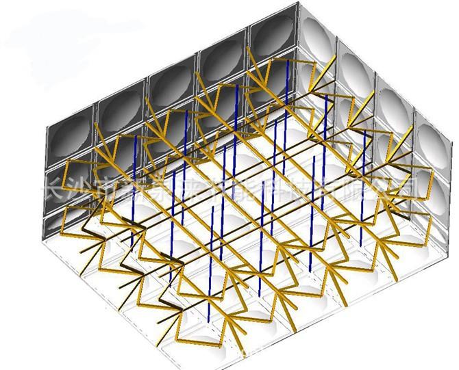 组合式不锈钢 方形水箱拉筋布局图