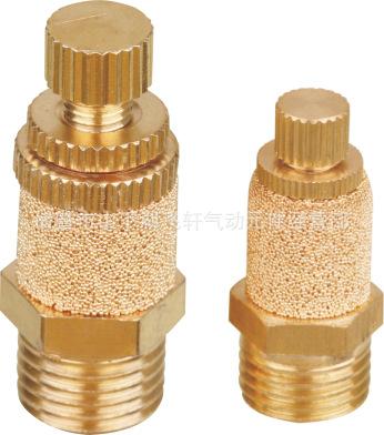 【诸暨飞轩】厂家直销1分黄铜消声节流阀外罩 电磁阀可调排气接头