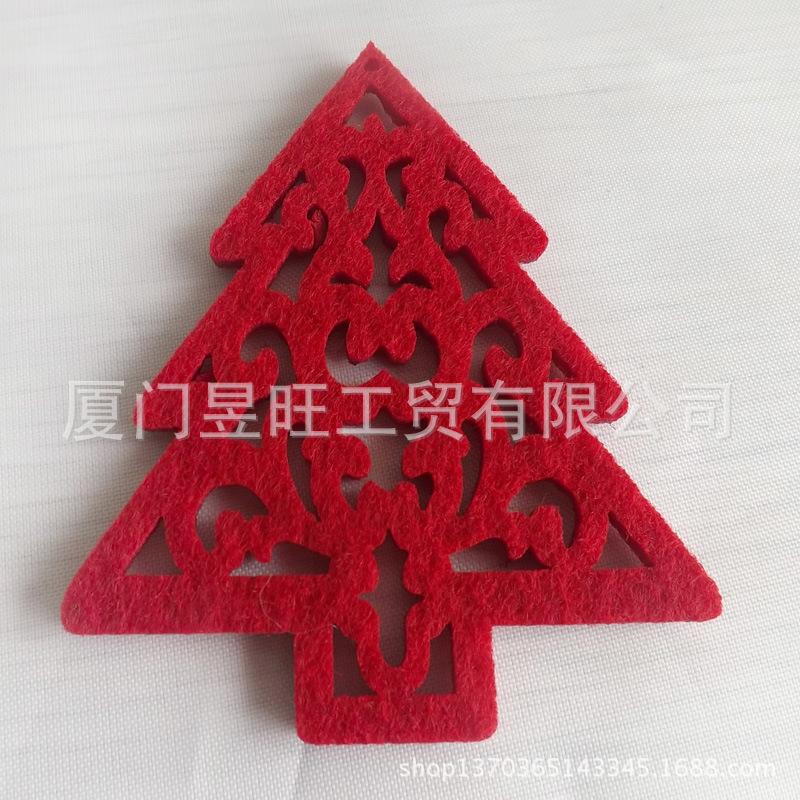 厂家*** 毛毡布挂件 圣诞装饰品 圣诞树挂件 激光切割