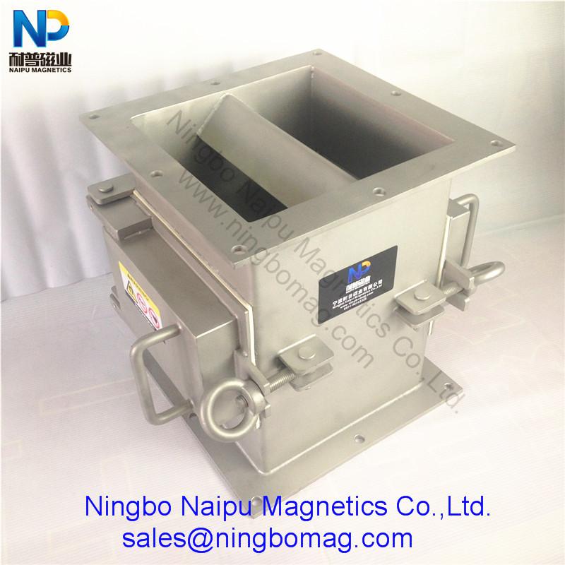 方接口磁板式管道除铁器