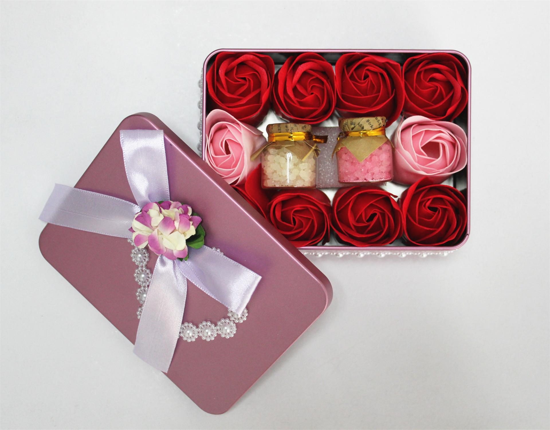 情人节礼物 批发情人节礼物 礼盒包装花束 紫色浪漫 高端大气 阿里巴巴