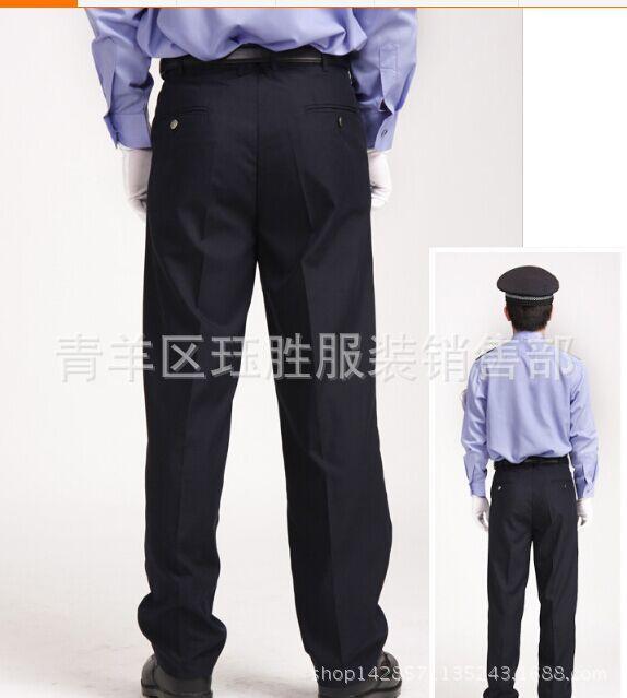 藏蓝色保安裤子 批发藏蓝色保安裤子 新款男女活腰可调节 阿里巴巴