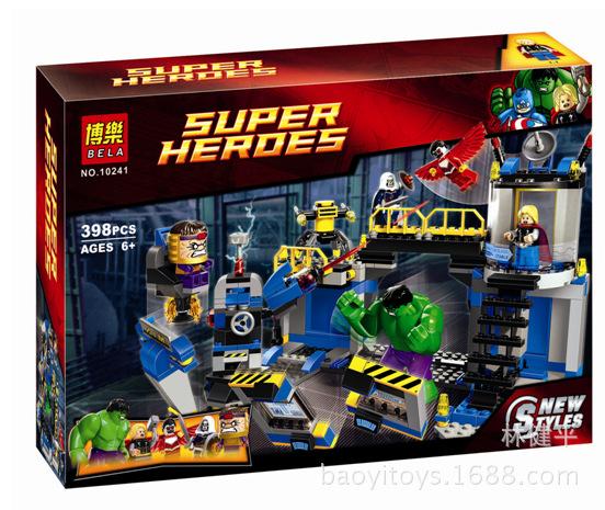 超级英雄复仇者联盟 拼装积木 儿童益智玩具398PCS