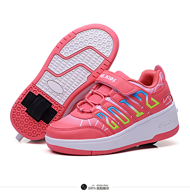 new kid retractable roller shoes running shoe wheels