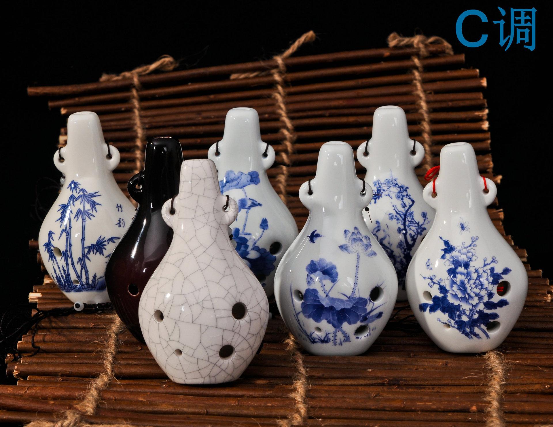 六孔陶笛 陶瓷名族乐器 C调精品6孔陶瓷乐器
