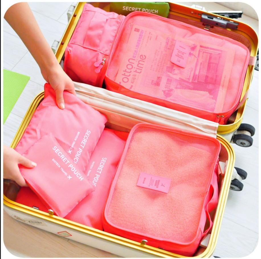 韩国旅行收纳袋套装 旅游必备神器行李箱内衣整理袋收纳包六件套