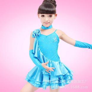 儿童拉丁舞服装夏女童春秋拉丁舞蹈练功服少儿拉丁舞