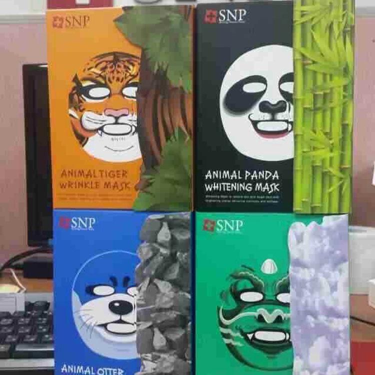 snp动物面膜老虎熊猫补水保湿美白面膜