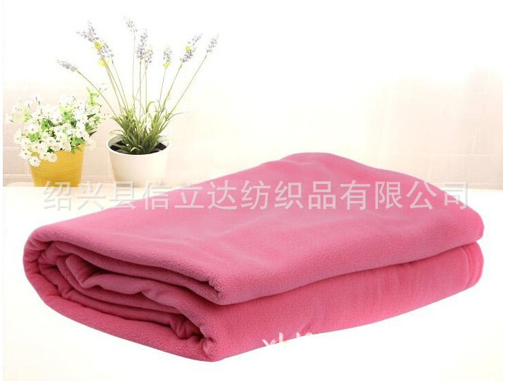 厂家供应优质素色摇粒绒毯/舒棉绒毛毯/珊瑚绒/法兰绒/