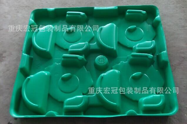 绿色厚片吸塑托盘
