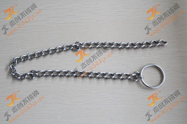 客户定制304不锈钢宠物链牵引链 不锈钢扭链 304不锈钢扭链溜狗链