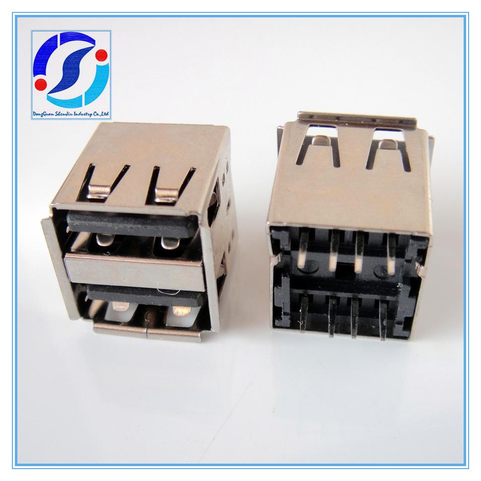 【USB插座】双层AF14.2-180D卷边黑胶