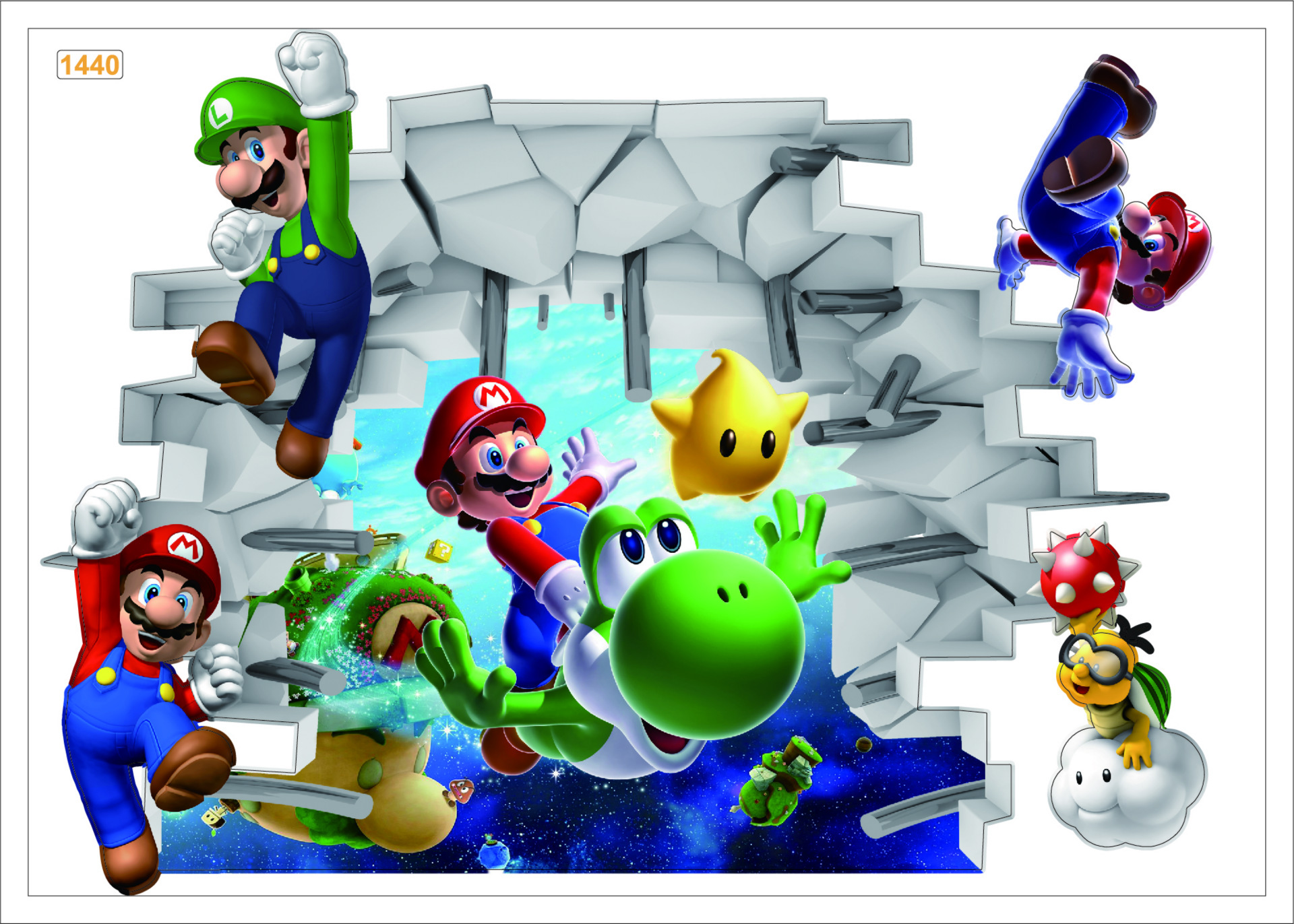3d super mario wall stickers baby kid room wall decals removable undefined undefined use sticker wall amipublicfo Gallery