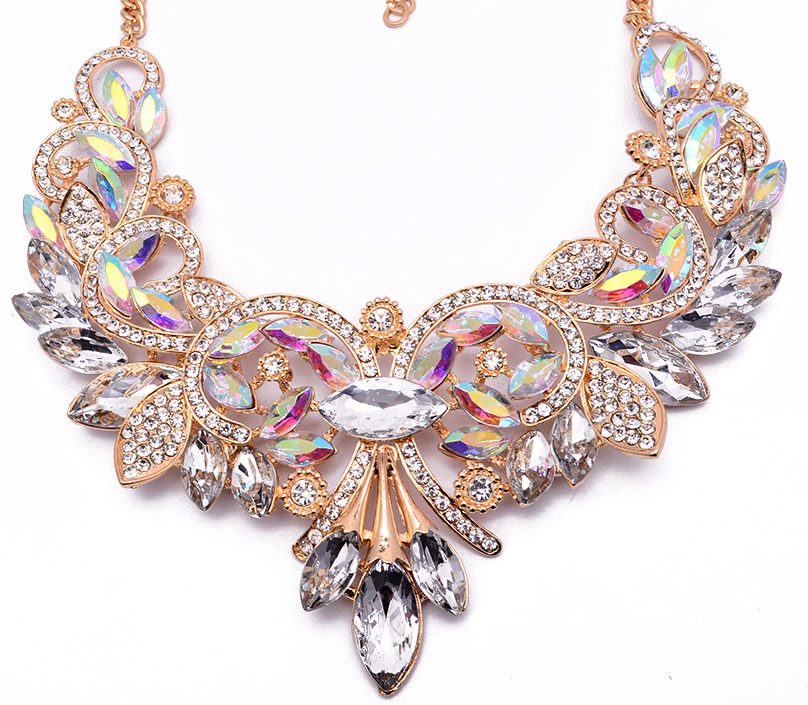 Occident alloy flowers necklace ( color ) NHJQ2518